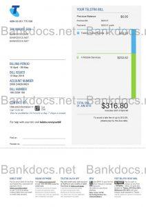fake australia utility bill