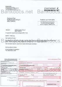fake austria utility bill