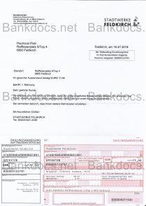fake austria utility bill