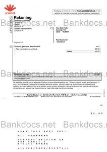 fake belgium utility bill