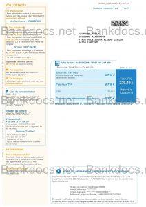 fake france utility bill