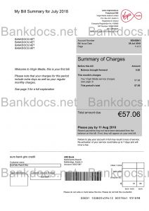 fake ireland utility bill