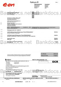 fake sweden utility bill