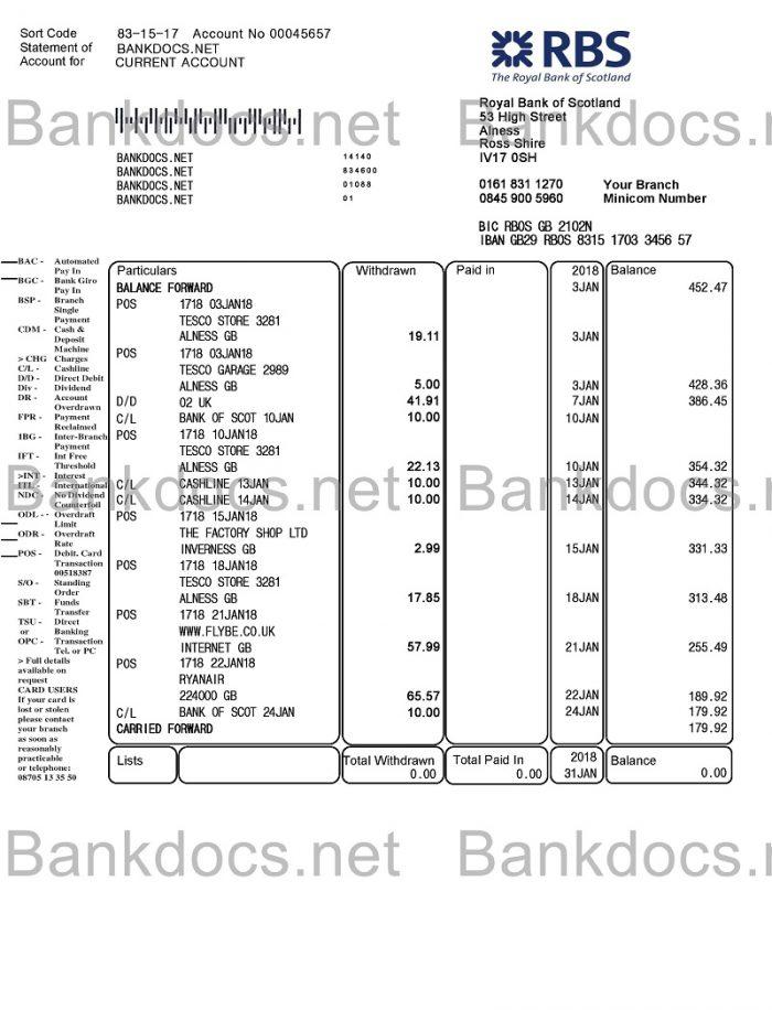 Samples Fake Utility Bills Fake Bank Statements Verify